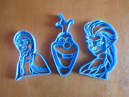 Frozen Cookie Cutter Set by B2Squared