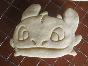 Toothless Face Cookie Baked