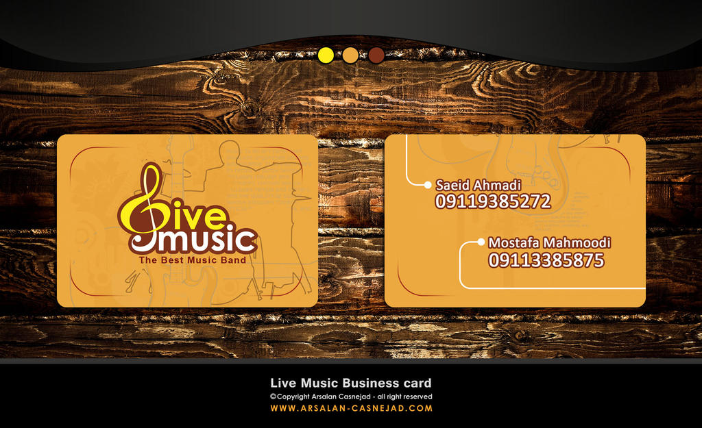 Live music business card by arsalan-design on DeviantArt