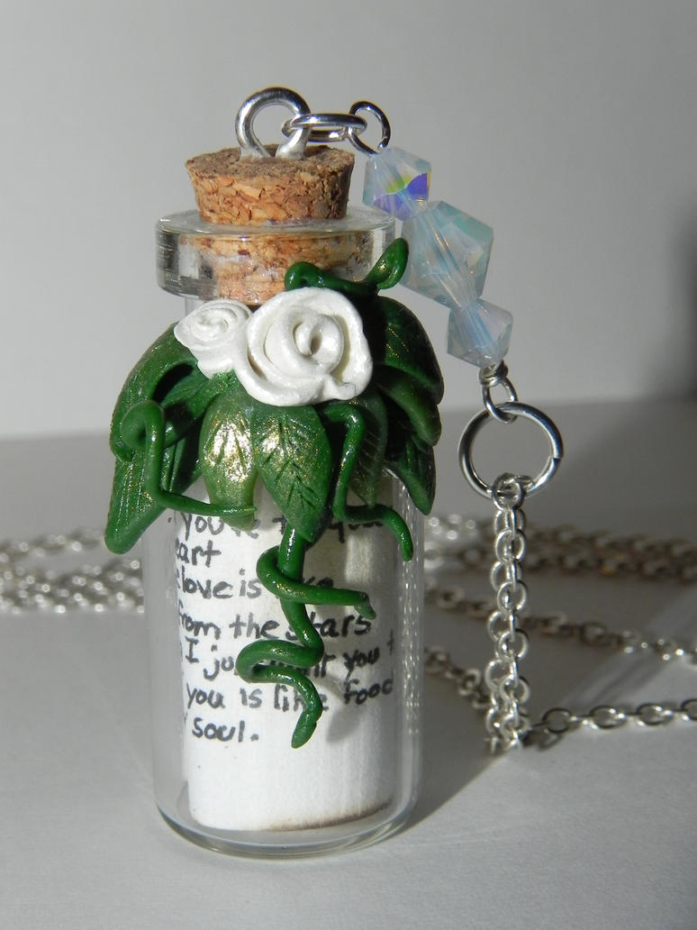 Song for Mama Lyrics Bottle Necklace with lyrics by Secretvixen