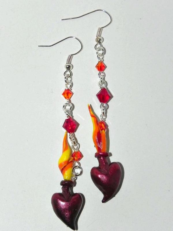 Eternal Flame Earrings by Secretvixen