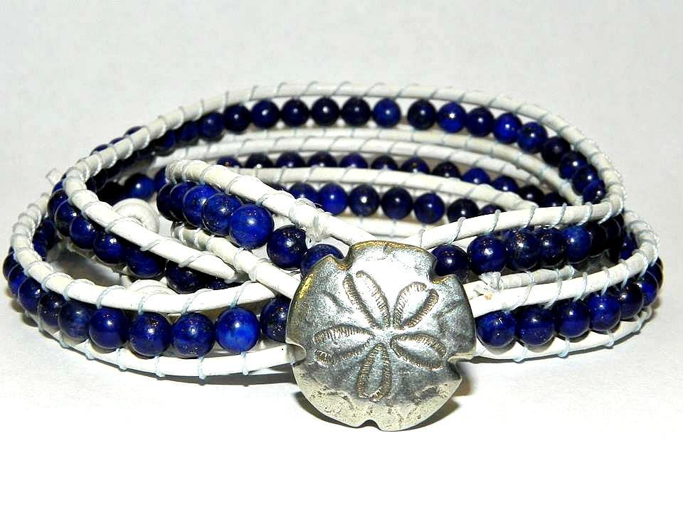Sea Currency, Lapis Lazuli, Wrap Bracelet by Secretvixen