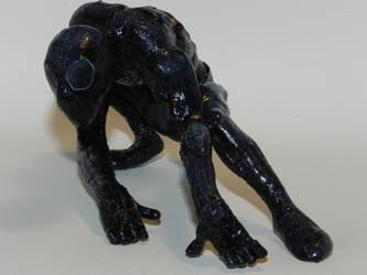 Black Spiderman Sculpt (front view)