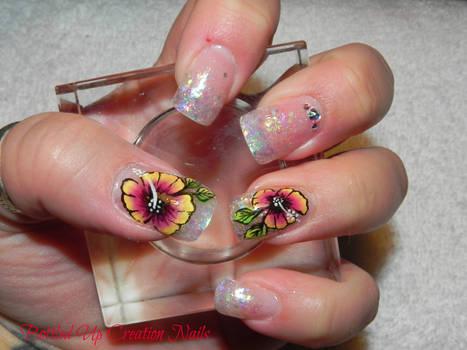 Hibiscus Handpainted