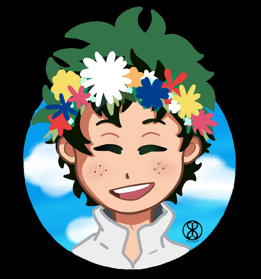Flower Deku by S-Siyala