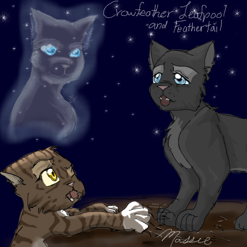 crowfeather and leafpool by warriorsangelcat on deviantart