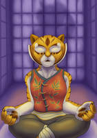 Master Tigress Finds Inner Peace (Clothed) by SacrificAbominat