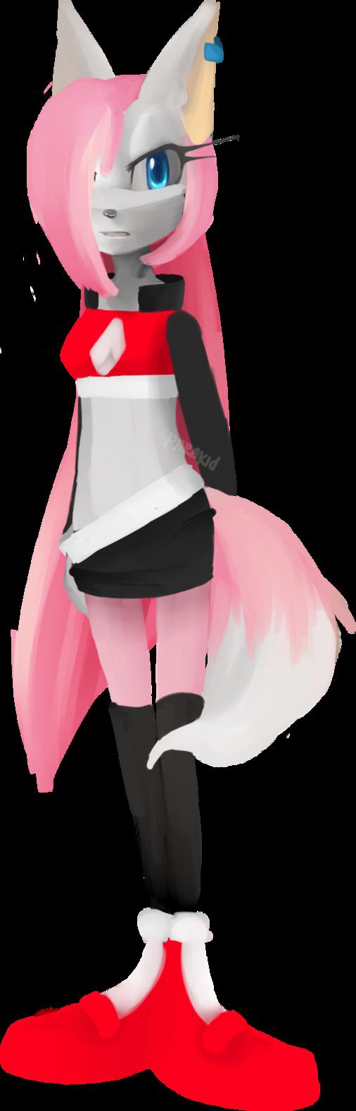 Cherry the fox by Coffee-Karin
