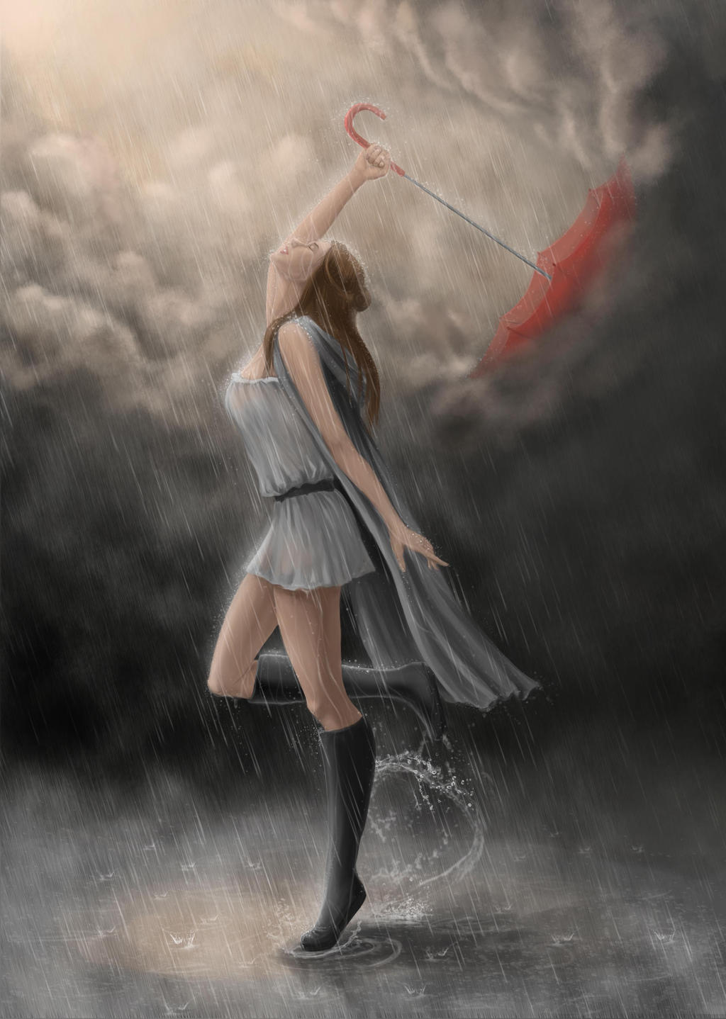 Happy Girl Dancing In The Rain 90510 Movieweb