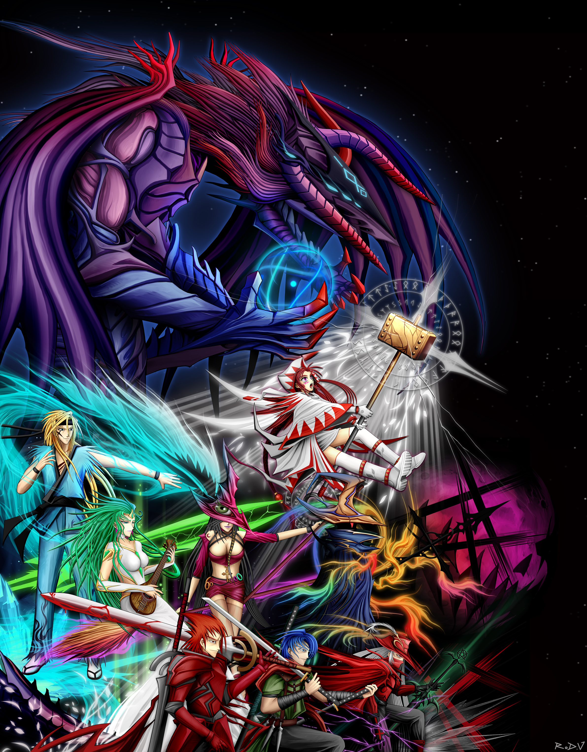 FF1 Forces of Light by blackorb00