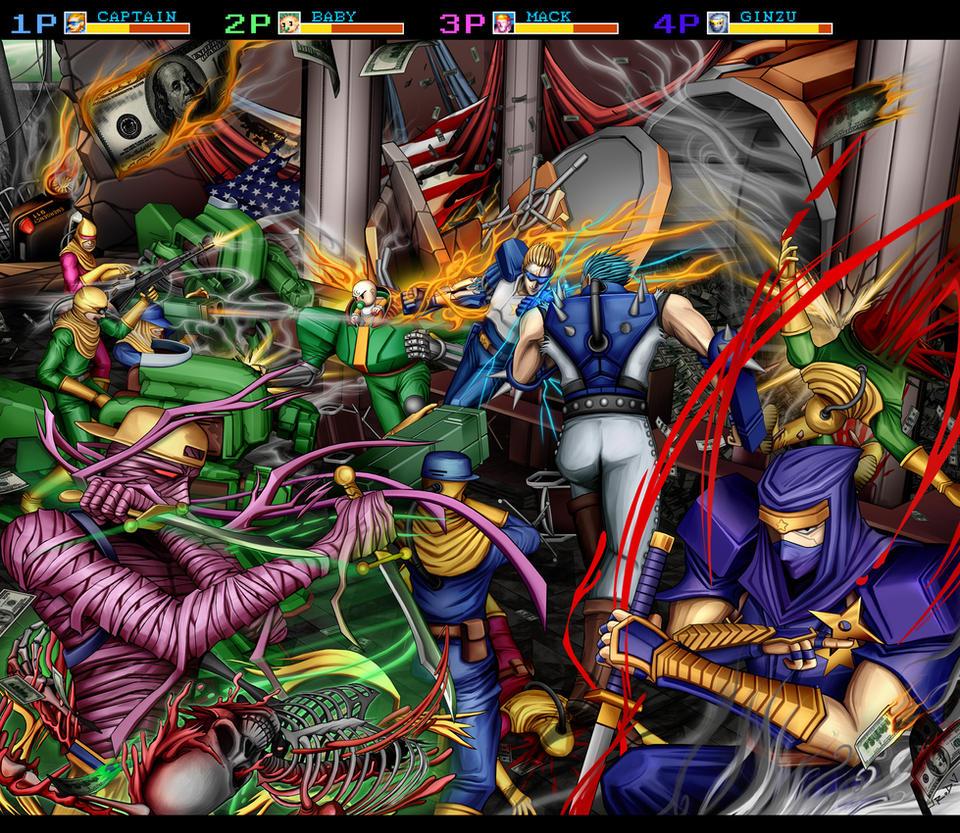 Captain Commando - City by blackorb00