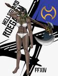 Roegadyn Warrior by blackorb00
