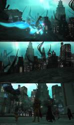 Underwater City (spoilers) - ffxiv by blackorb00