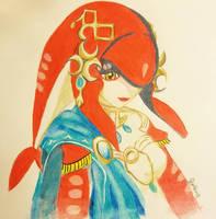 Mipha by lanadeathrey