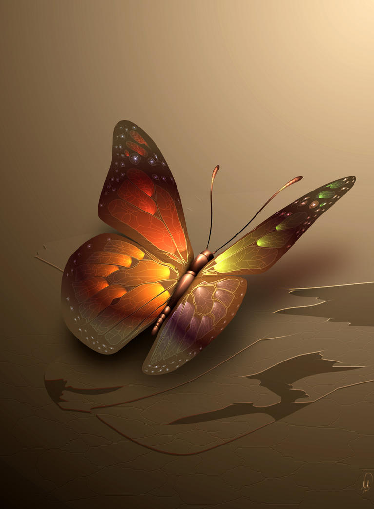 autumn butterfly by nevs28