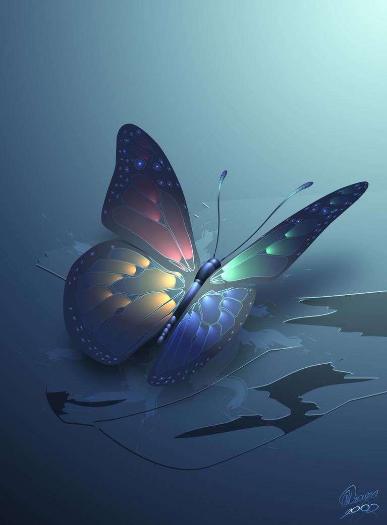 winterbliss butterfly by nevs28
