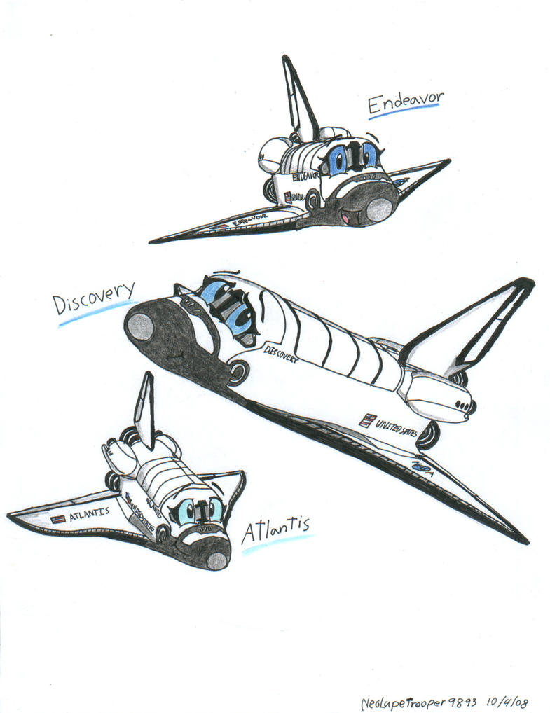 Chibi Space shuttles by WMDiscovery93