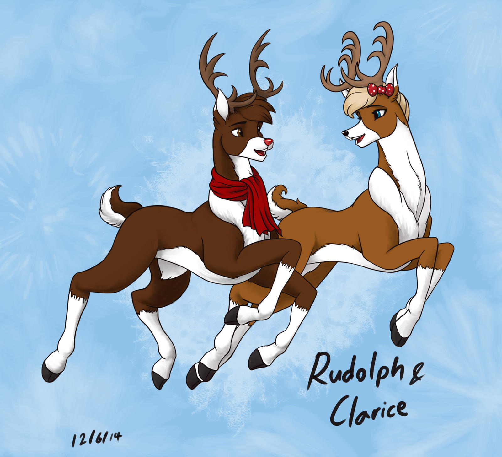 Clarice reindeer drawing
