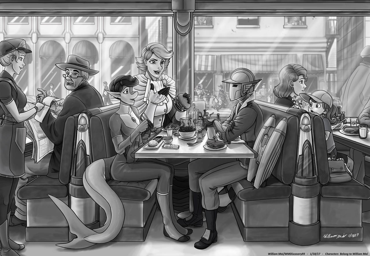'Superhero Diner' by WMDiscovery93