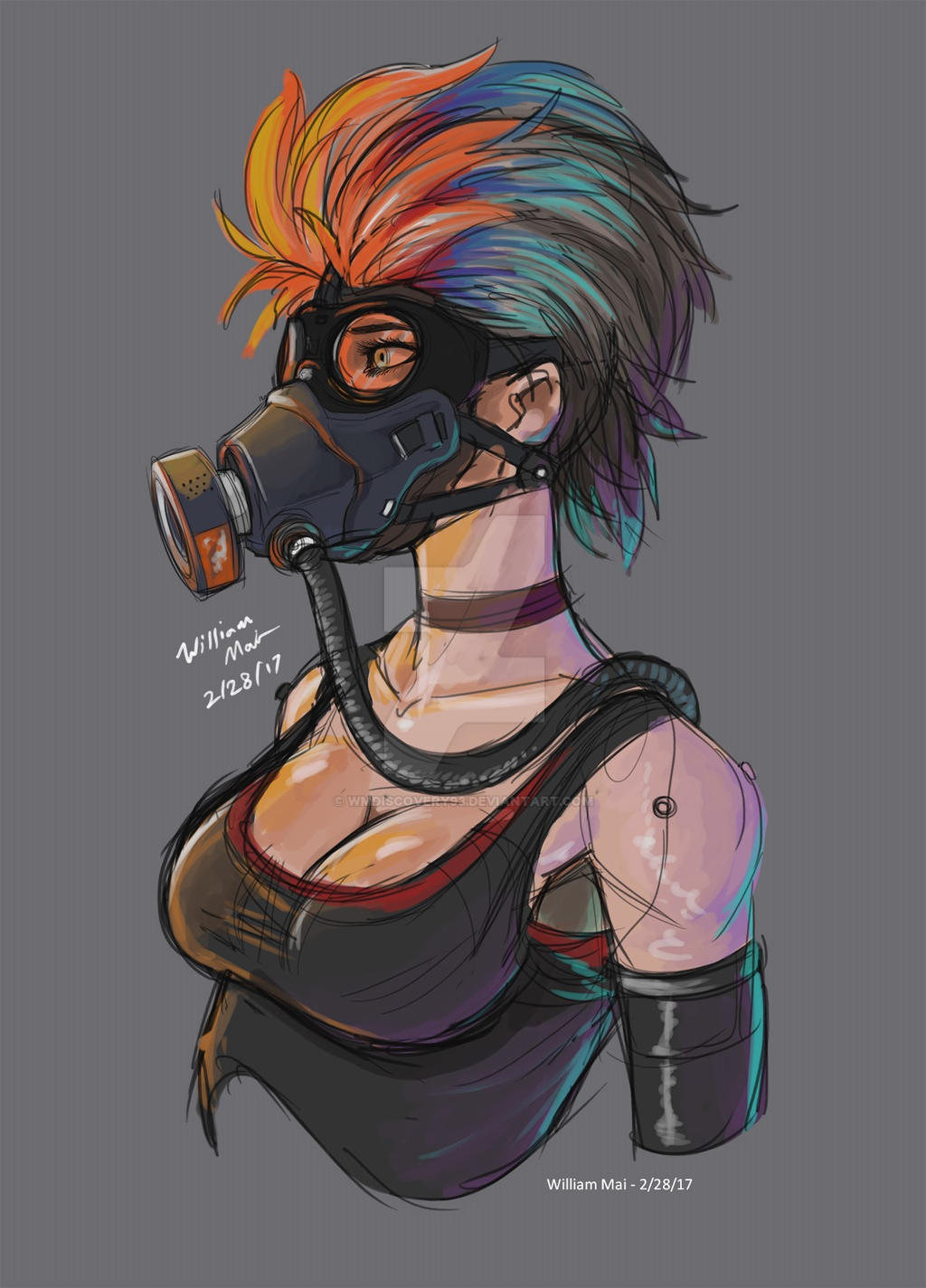 Masked girl without mask 10