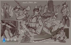 Kitsune Ronin Rin - Character Studies by WMDiscovery93
