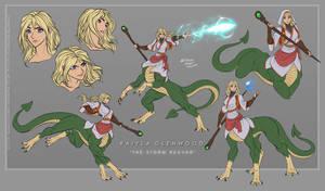 [C] Raiyla the Storm Reaver - JarynFrostwing by WMDiscovery93