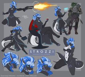 [C] Strozzi- Character Spread Sheet - ARandomShark by WMDiscovery93