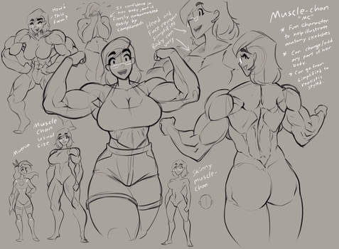 'Buff Ladies Sketches' - Muscle-Chan