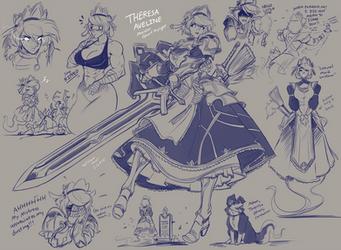 Theresa Aveline - Ghost Maid Knight!