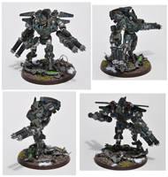 Tau XV-9 Battlesuit by MrCod