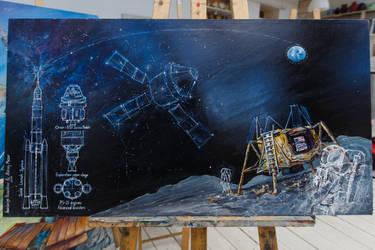 Orion. Beyond the lunar orbit_1 by Anestazy