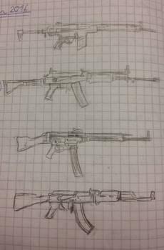 Lazy student sketches 4 (guns)