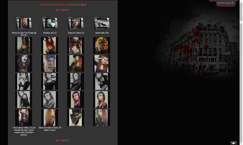 Gallery layout by RoseOfTheFlames