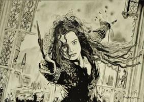 Bellatrix in charcoal