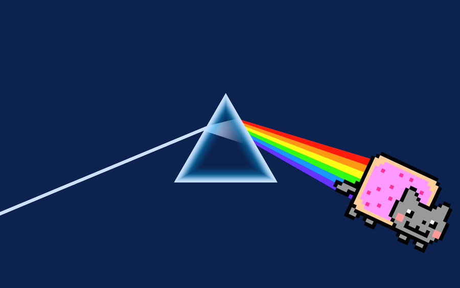 Nyan Side of The Moon by zephyris