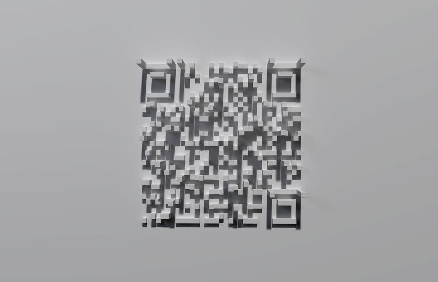 3D QR by zephyris