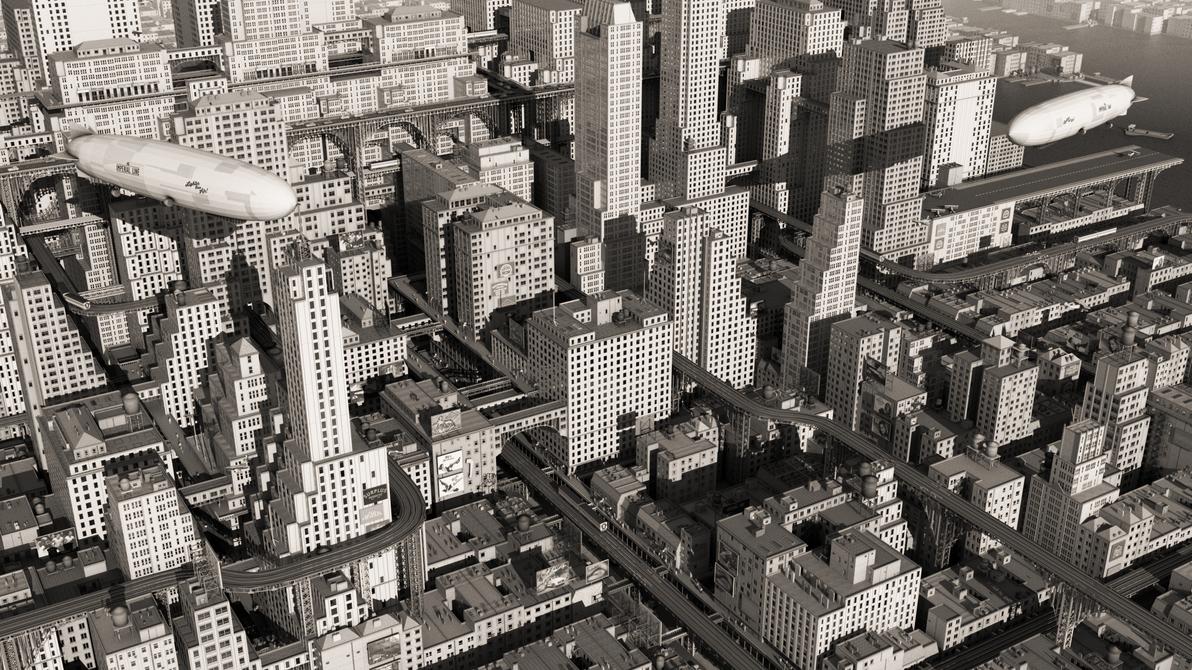 Forgotten Future - New York by zephyris