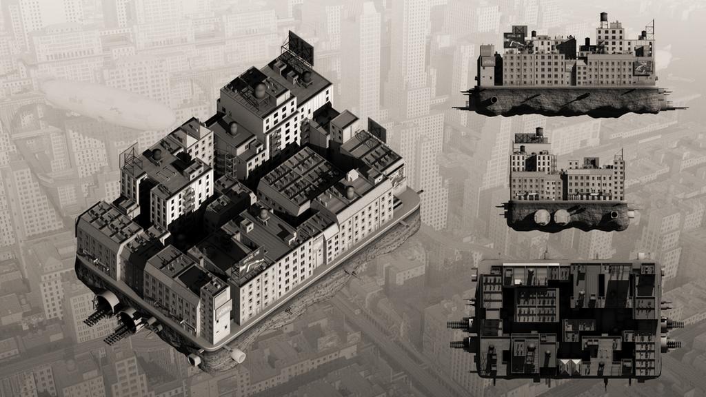 Forgotten Future - New York (One Block) by zephyris