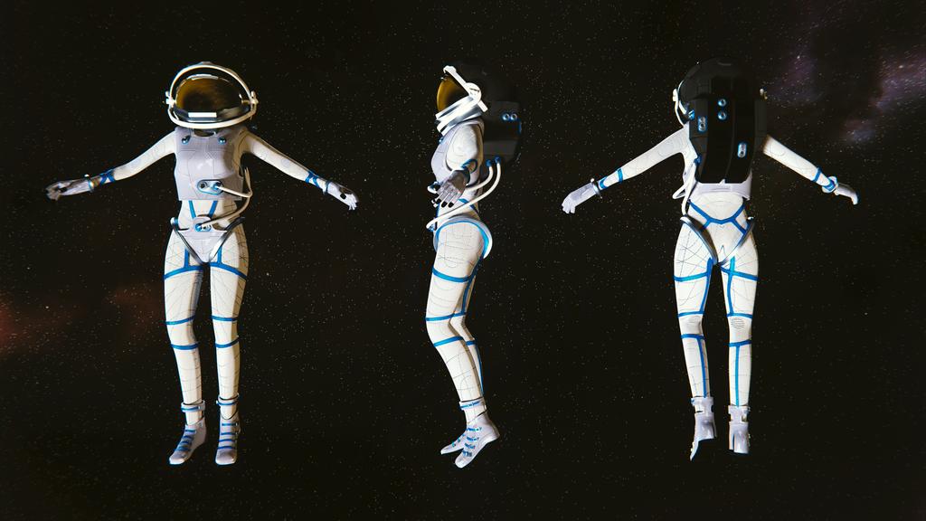 Spacewoman by zephyris