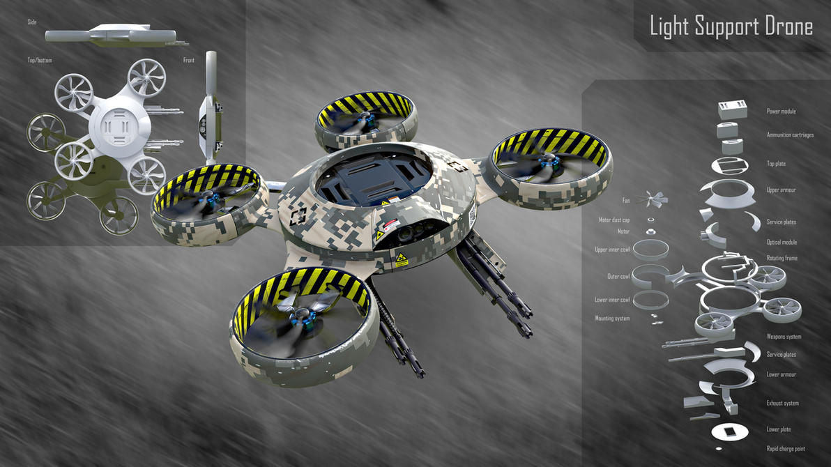 Light Support Drone by zephyris