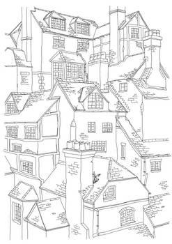 Oxford Architecture Sketch 2