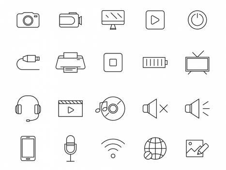 20 Multimedia Vector Icons