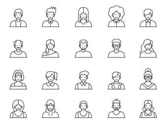20 Avatar Vector Icons