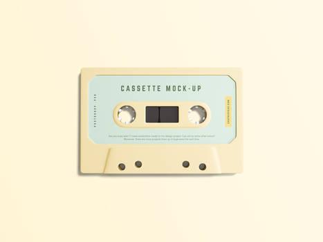 Simple Cassette Mockup