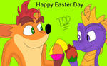 Happy Easter Day Crash and Spyro