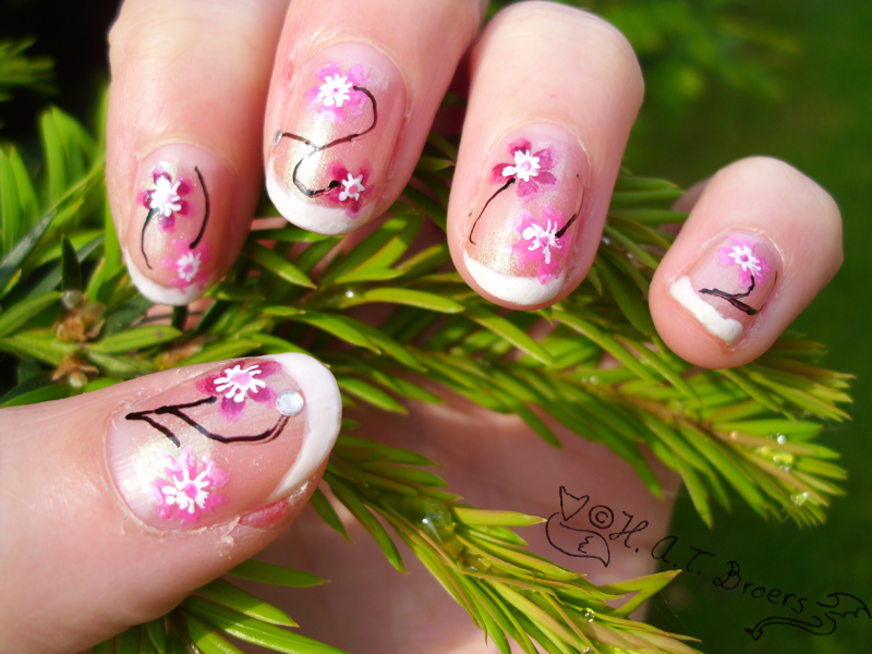 Nail Art Flowers 01 By Kythana On Deviantart
