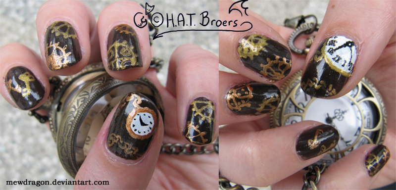 Steampunk Nail Art 2 by Kythana on DeviantArt