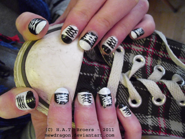 Converse Nail Art By Kythana On Deviantart