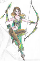Elven archer 1 by Kythana