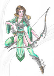 Elven archer 2 by Kythana